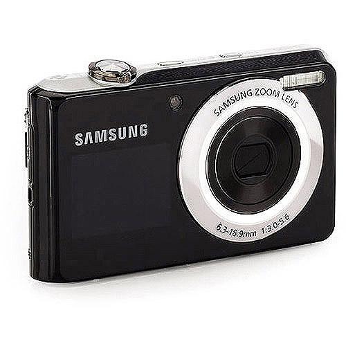 Samsung DualView TL205 Black w/ Silver Trim 12.2 MP Digital Camera w/ 3x Optical Zoom w/ 50 Bonus Prints