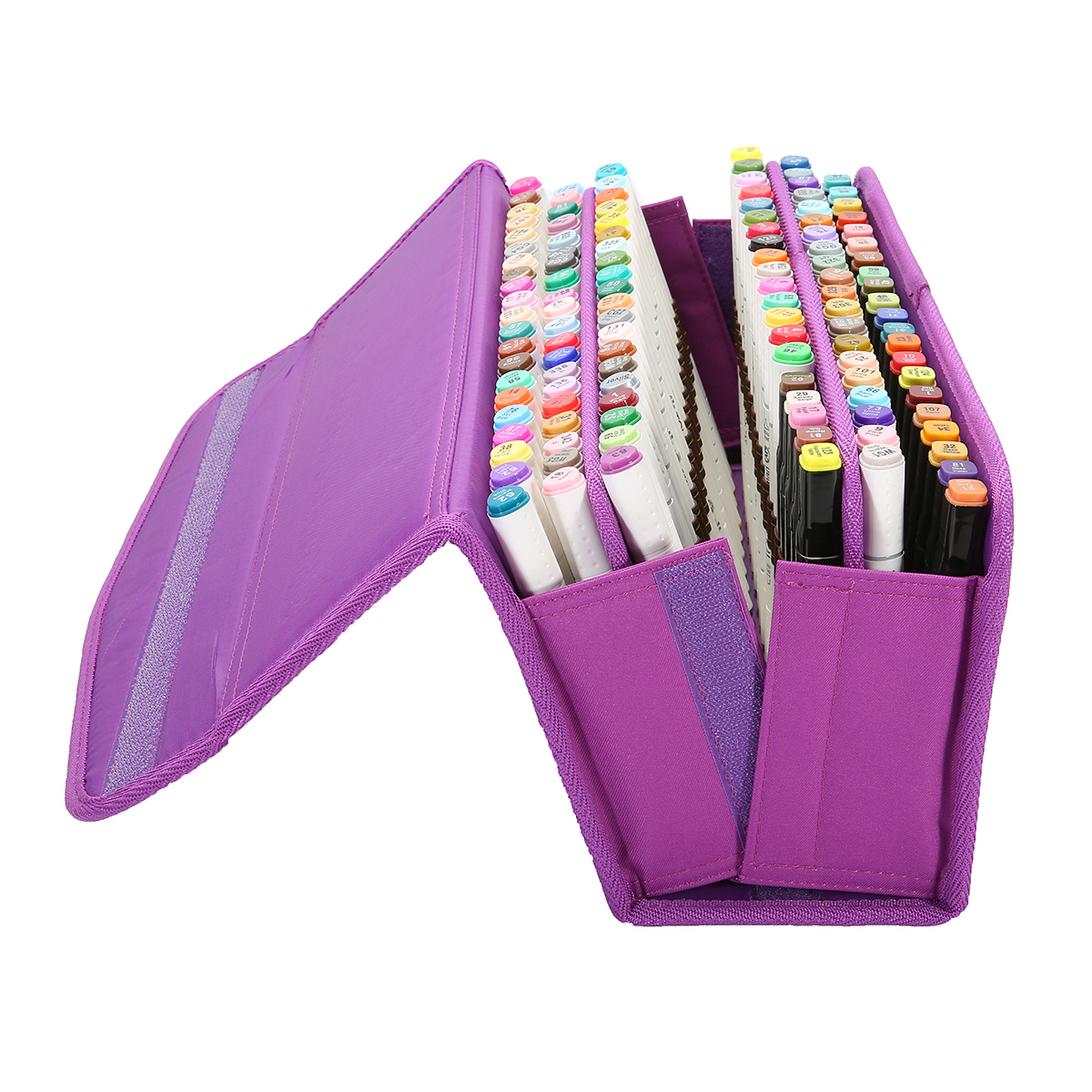 Moaere120 Slots Pencil Case Large Capacity Slot Super Big Pu
