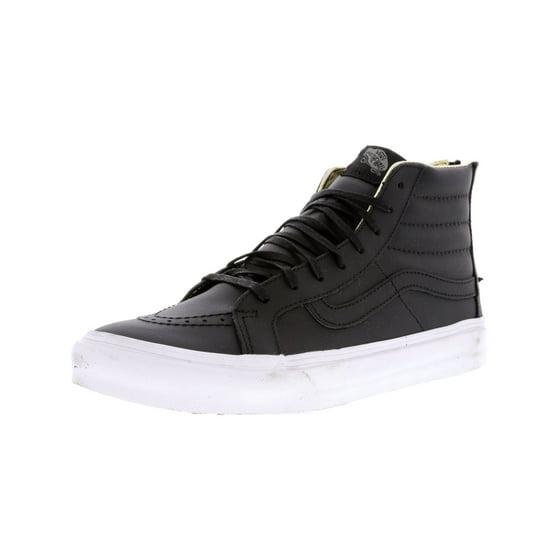 72922c97edf6c7 Vans - Vans Sk8-Hi Slim Zip Leather Black   Leopard High-Top Skateboarding  Shoe - 10.5M 9M - Walmart.com