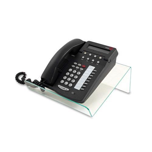 Deflecto 41890 Glasstique Planner/Telephone Stand, 11 3/4 x 9 1/4 x 4 1/4, Green