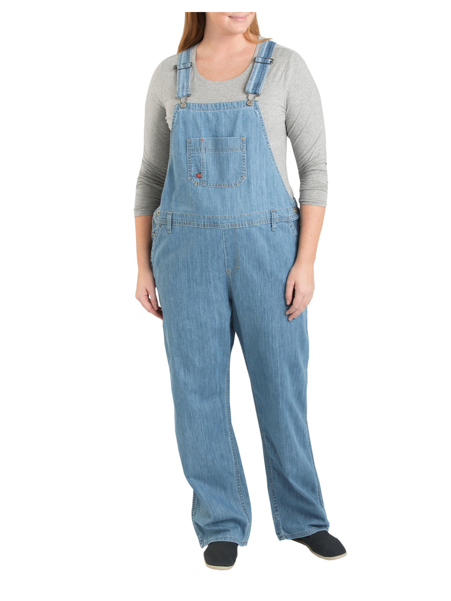 Women S Plus Size Denim Bib Overall Walmart Com