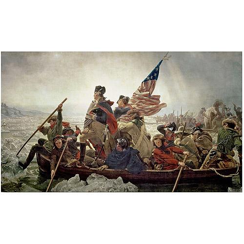 """Trademark Fine Art """"Washington Crossing Delaware River in 1776"""" Canvas Art by Emanuel Leutze"""