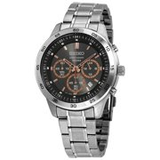 Seiko Men's Sks521p1 Neo Sport Chrono Stainless Steel Charcoal Dial Stainless Steel Watch
