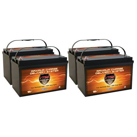 48 Volt Power Drive (QTY4 VMAX MR137-120 12V 120AH AGM Deep Cycle Group 31 Batteries for Minn Kota E-Drive - Electric Outboard - 2Hp - 48V 48 Volt Trolling)