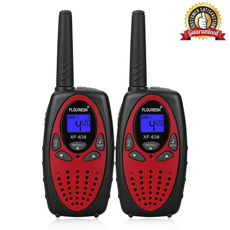 Kids Walkie Talkies, FLOUREON 22 Channel Two-Way Radio Best for Kids Long Range 3000M Handheld Outdoor Interphone/Portable Toy Radio Transceiver(2 Packs) (Retevis 4 Pack Walkie Talkie)