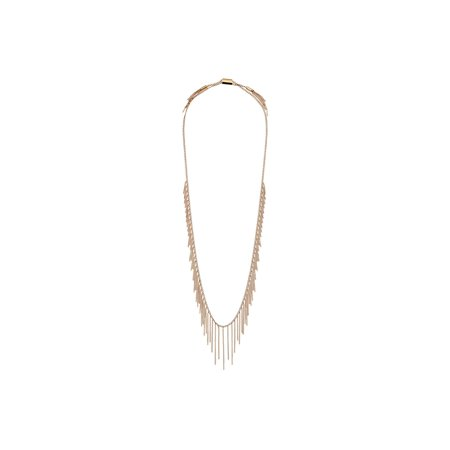 Linked Long Necklace - Michael Kors MKJ5793710 Womens Modern Fringe Adjustable Long Chain Necklace NEW!