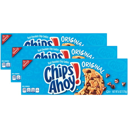 (3 Pack) Nabisco Chips Ahoy Chocolate Chip Cookies Convenience Pack, 6 (Nabisco Chocolate Chip Cookies In Red Box)