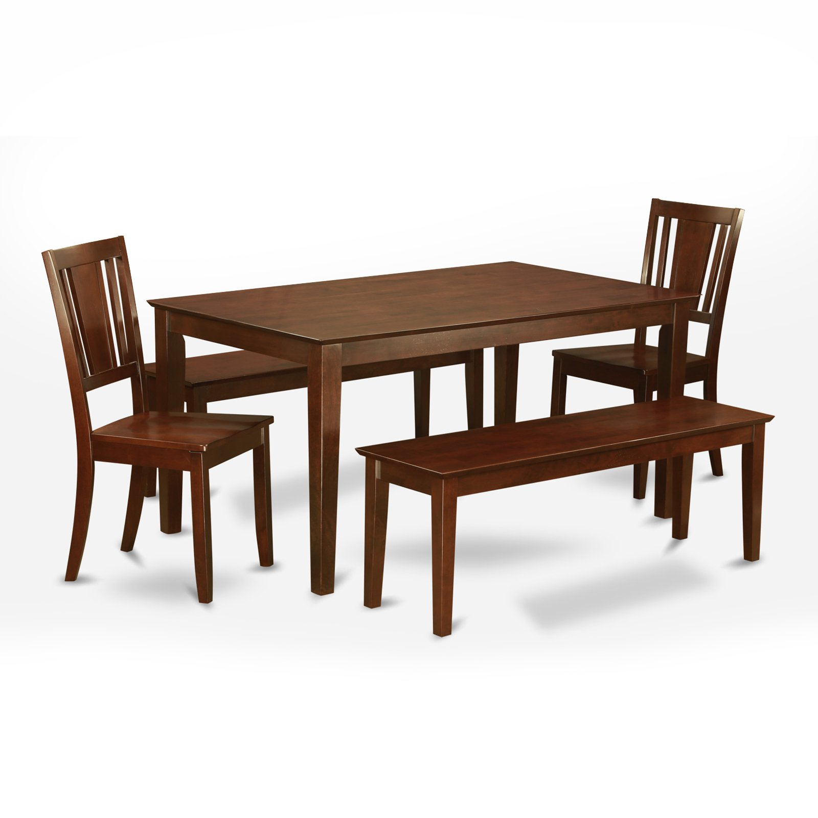 East West Furniture Capris 5 Piece Rectangular Dining Table Set with Buckland Chairs