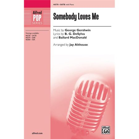 Alfred 00-46578 Somebody Loves Me Music CD - SATB Choral Octavo - image 1 of 1