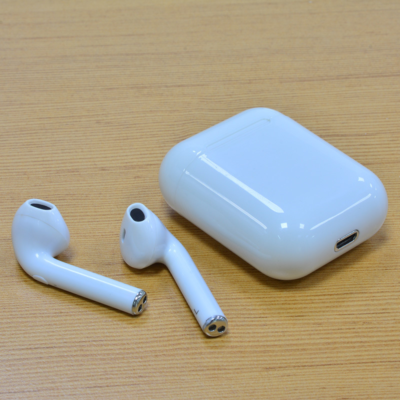 Stereo Wireless Bluetooth Earphones In Ear Earphones with Charging Box for iPhoneX 8 Plus 7 6 6s 5 iOS Samsung Galaxy Android Phones(White)