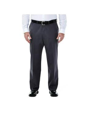 NEW Solid Gray Mens Size 48X30 Big Dress - Flat Front Pants
