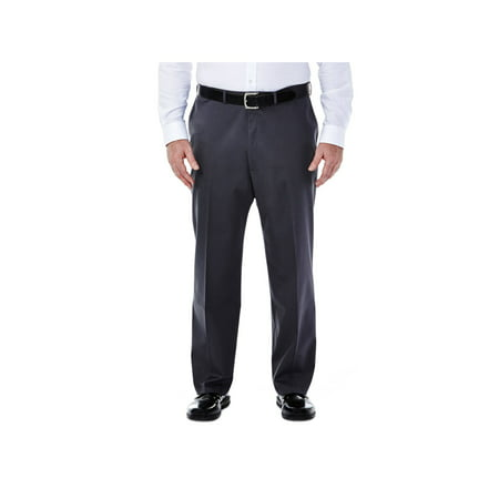 Haggar Men's Big & Tall Premium No Iron Classic Fit Flat Front Casual Pants - Dark Gray 50x29