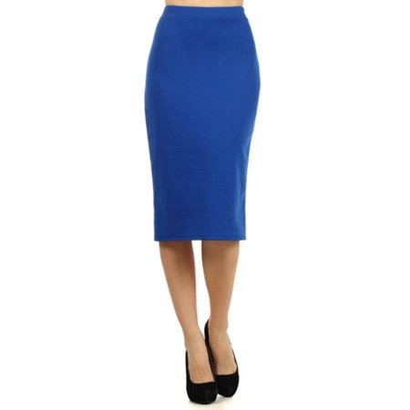 NEW MOA Women's High Waist Band Bodycon Career Office Midi Stretchy Pencil Skirt/Made in USA - Punk Suit