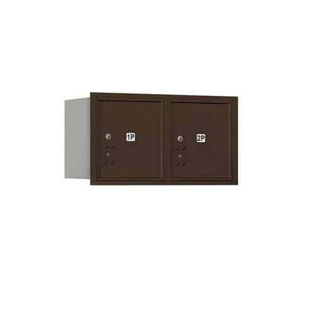 Aluminum Letter Locker Mailbox (Salsbury Industries Recessed USPS Aluminum 2 Unit 4C Horizontal Mailbox Parcel Locker )