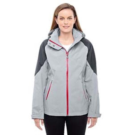 Ash City   North End Sport Red Ladies Impulse Interactive Seam Sealed Shell   Platnm  Crbn 837   Xl 78808