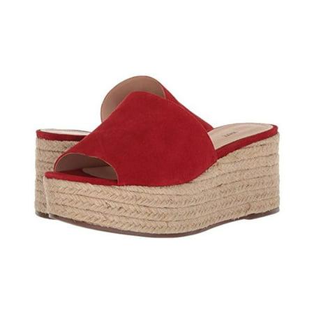 d90e9202648 SCHUTZ Thalia Espadrille Wedge Sandal Tango Red Platform Slide Mule  Flatform (6)