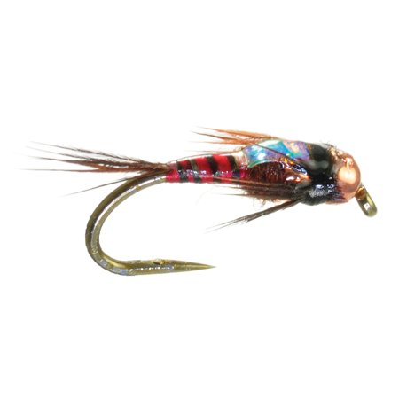 Umpqua two bit hooker red fly fishing tungsten bead head for Walmart fly fishing