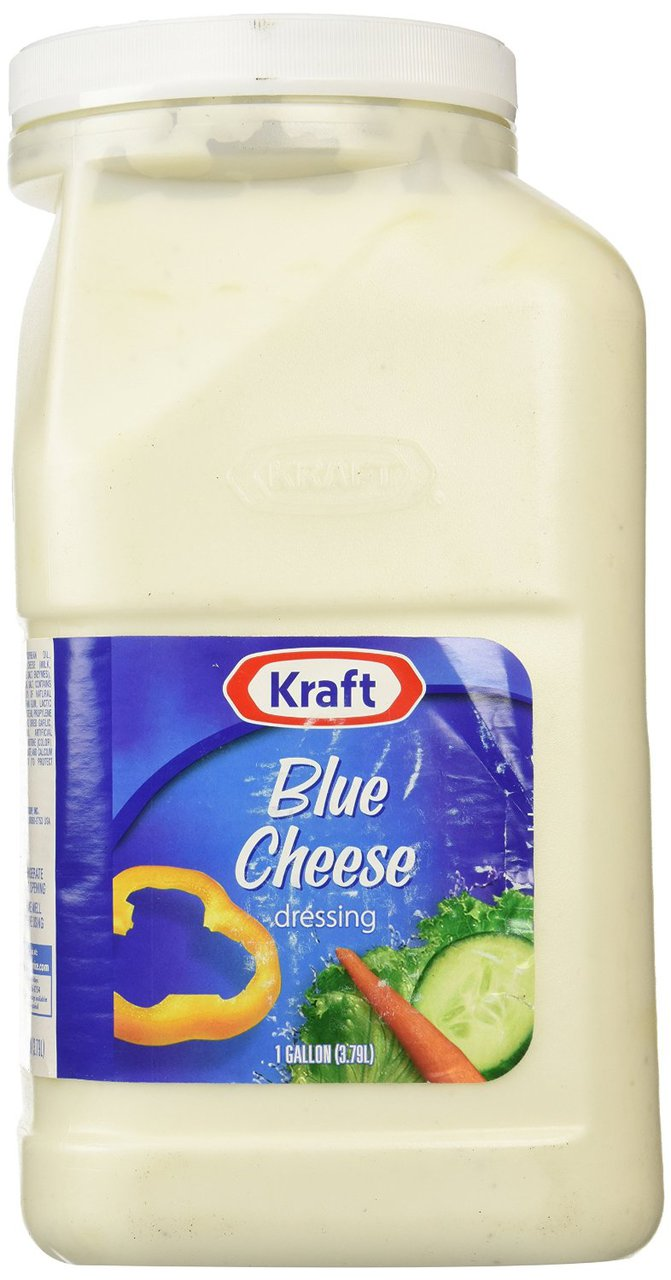 4 pack : Kraft Brand Dressing Pourable Blue Cheese Dressing, 128 oz by