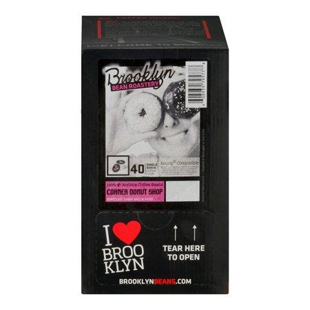Brooklyn Bean Roastery Corner Donut Shop K-Cup Coffee Pods, 40 (Best Donuts In Brooklyn)