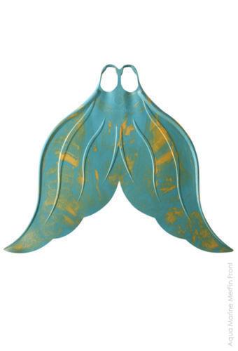 Fin Swim Fun Snorkel Mahina Mermaid Adults Large Orange Merfin Classic