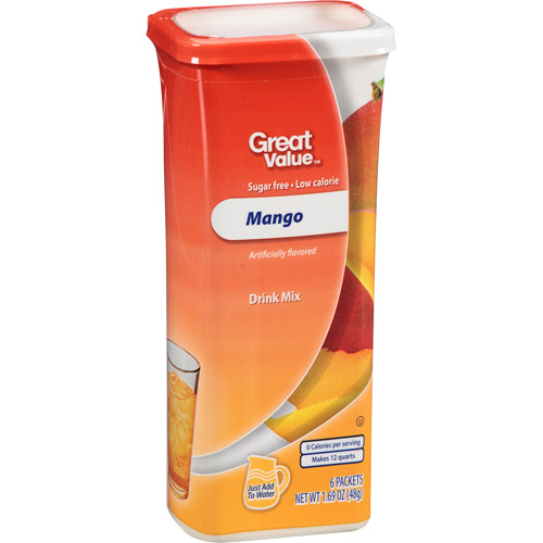 Great Value Mango Drink Mix, 1.69 oz/6 ct,