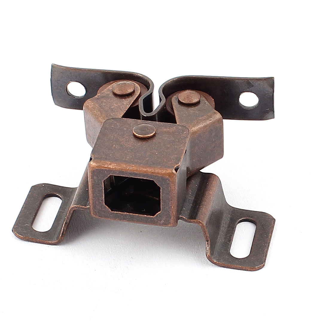 Cabinet Cupboard Door Double Ball Roller Catch Latch Lock Bronze Tone