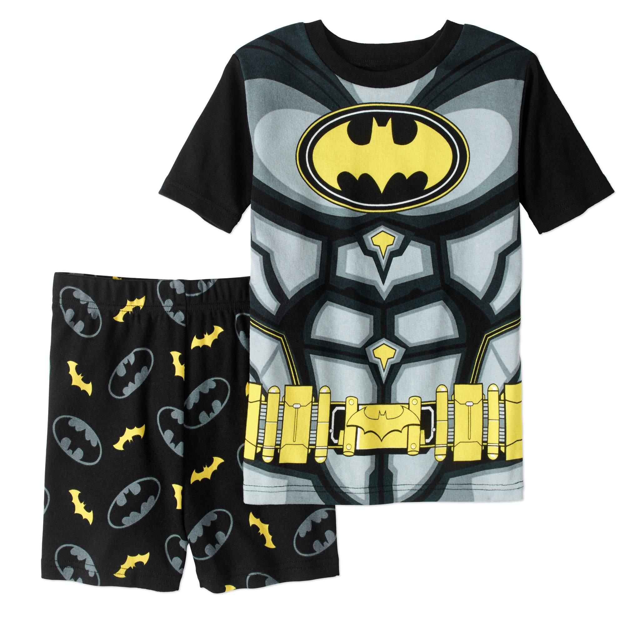 Batman Boys' 2-Piece Cotton Pajama Sleep Short Set by Generic