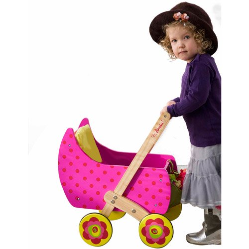 Dushi Wooden Push N Play Doll Carrier