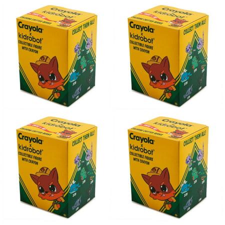Set Of 4 Coloring Critter Blind Box Vinyl Mini Figures
