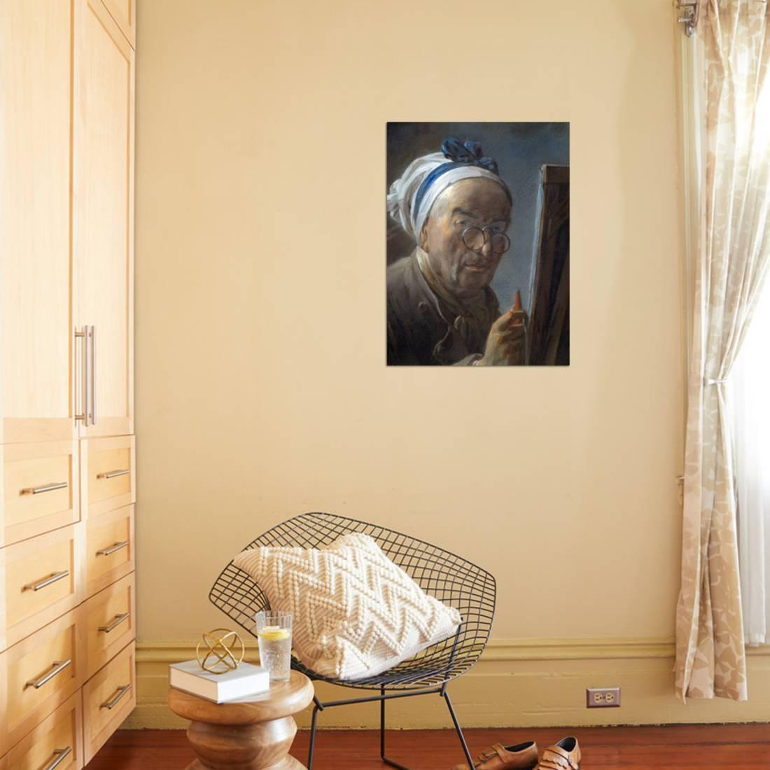 Self Portrait with an Easel by Jean-Baptiste-Simeon Chardin Print ...