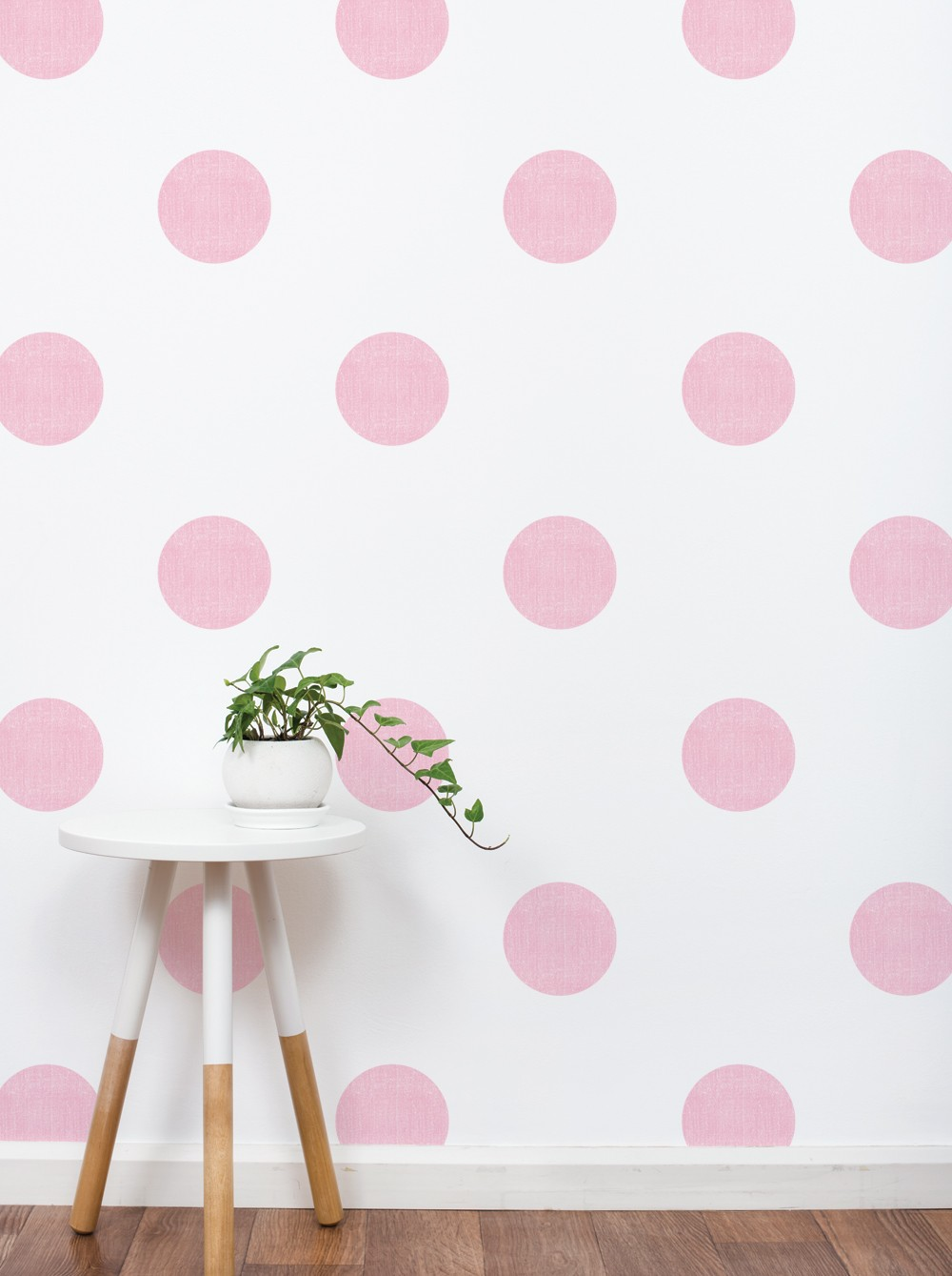 Textured Dots Wall Sticker, 6 Inch Baby Pink by Simple Shapes