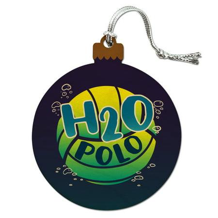 (Water Polo Ball H2O Wood Christmas Tree Holiday Ornament)
