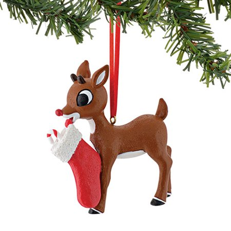 Dept 56 Rudolph Red Nosed Reindeer 4040301 With A Stocking Orn. 2015