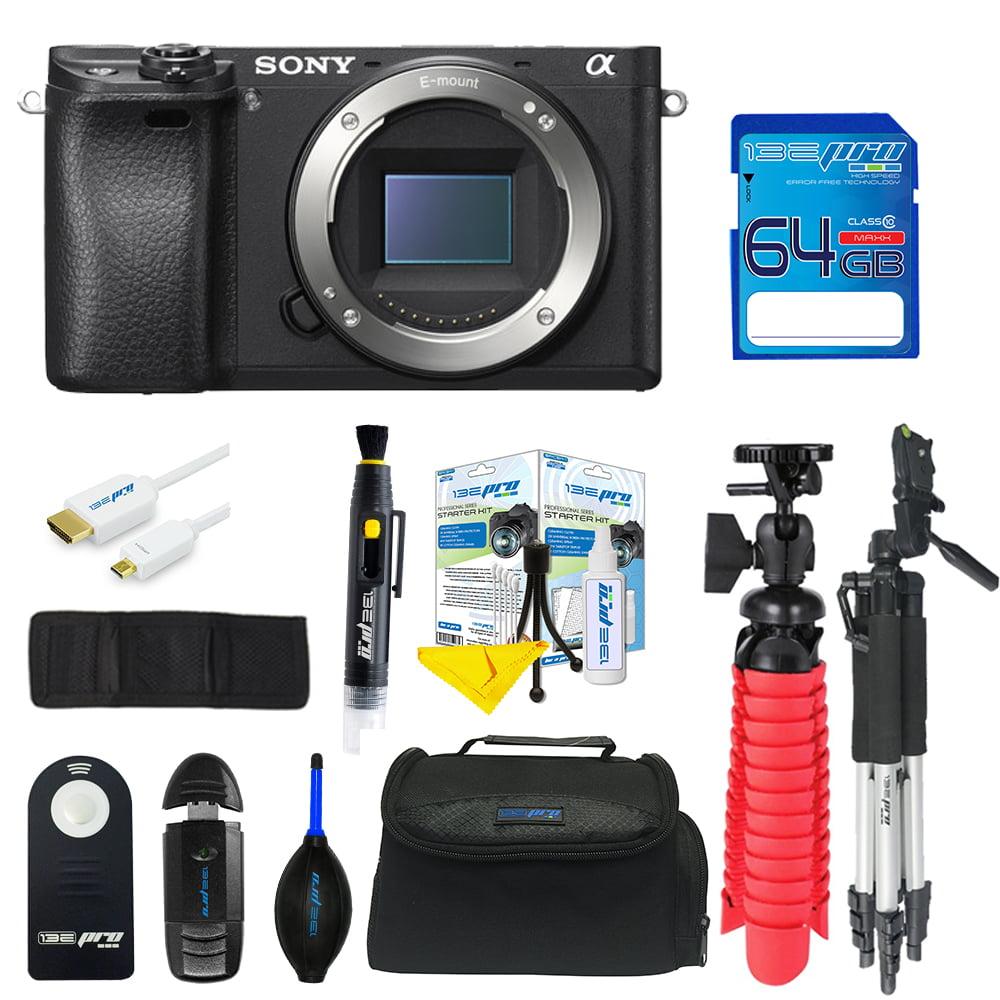 Sony Alpha a6300 Mirrorless Digital Camera (Body Only) + SD Card + Pixi Advanced Bundle Kit