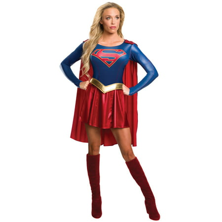 Women's Supergirl Costume - Supergirl TV Show - Supergirl Makeup