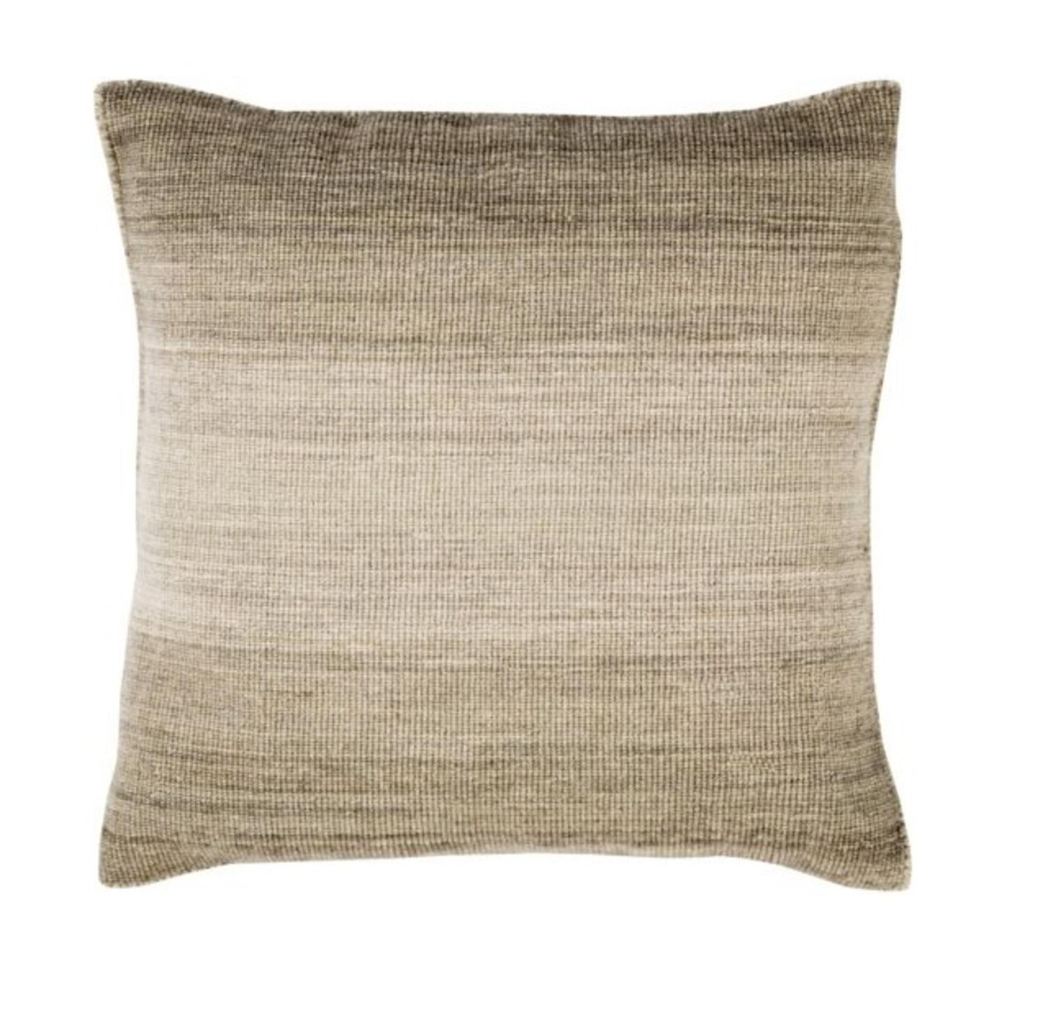 """20"""" Ombre Ambience Coyote Brown, Eggshell and Otter Brown Decorative Throw Pillow"""