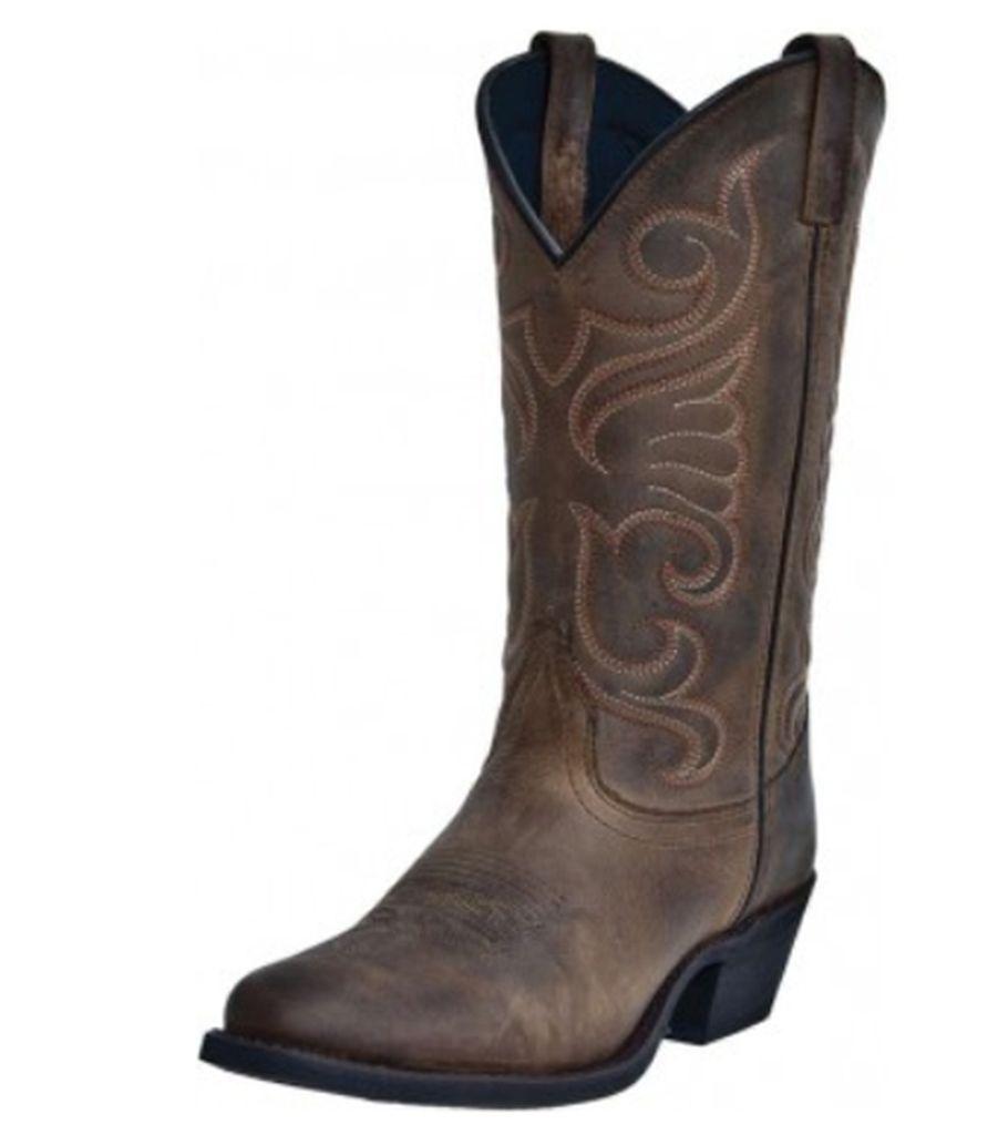 Laredo Western Boot Women Bridget Stitched Cowboy Distressed Tan 51084 by Laredo