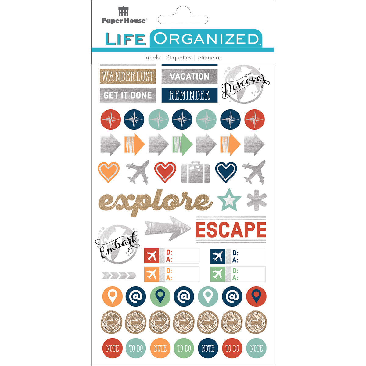 Paper House Life Organized Planner Stickers  -Travel