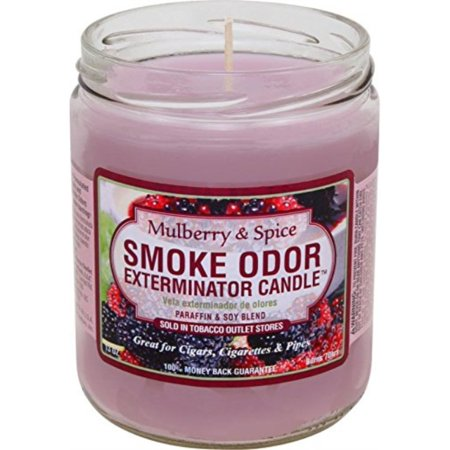 - Smoke Odor Exterminator Mulberry and Spice 13oz by Smokers Candle, 13 oz