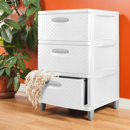Sterilite 3 Weave Drawer Unit Tower White Best Drawers