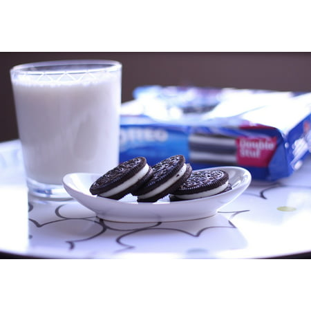 Canvas Print Oreo Milk Cookies Sweet Chocolate Dessert Stretched Canvas 10 x 14](Halloween Dessert Ideas With Oreos)