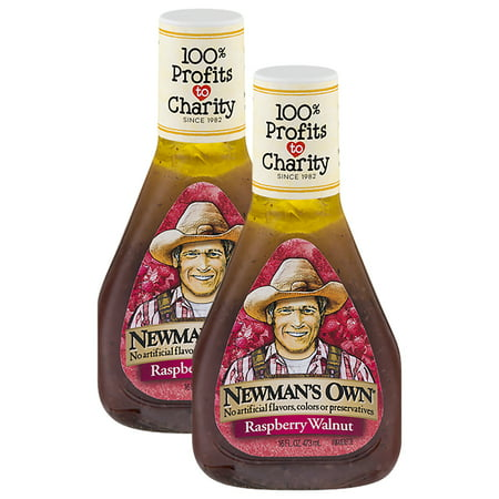 (2 Pack) Newman's Own Raspberry & Walnut Vinaigrette Dressing, 16