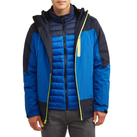 (Iceberg Swiss Men's 3 in 1 Systems Jacket with Ultra Light Removable Liner, up to size 3XL)