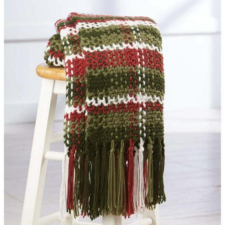 Yule be Plaid Throw Pattern Crochet Pattern