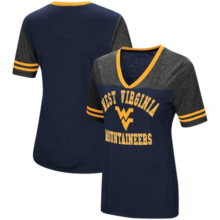 West Virginia Mountaineers Colosseum Women's The Whole Package Jersey V-Neck T-Shirt - Navy