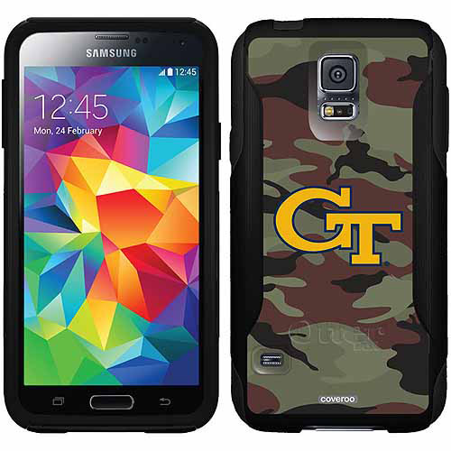 Georgia Tech Camo 1 Design on OtterBox Commuter Series Case for Samsung Galaxy S5