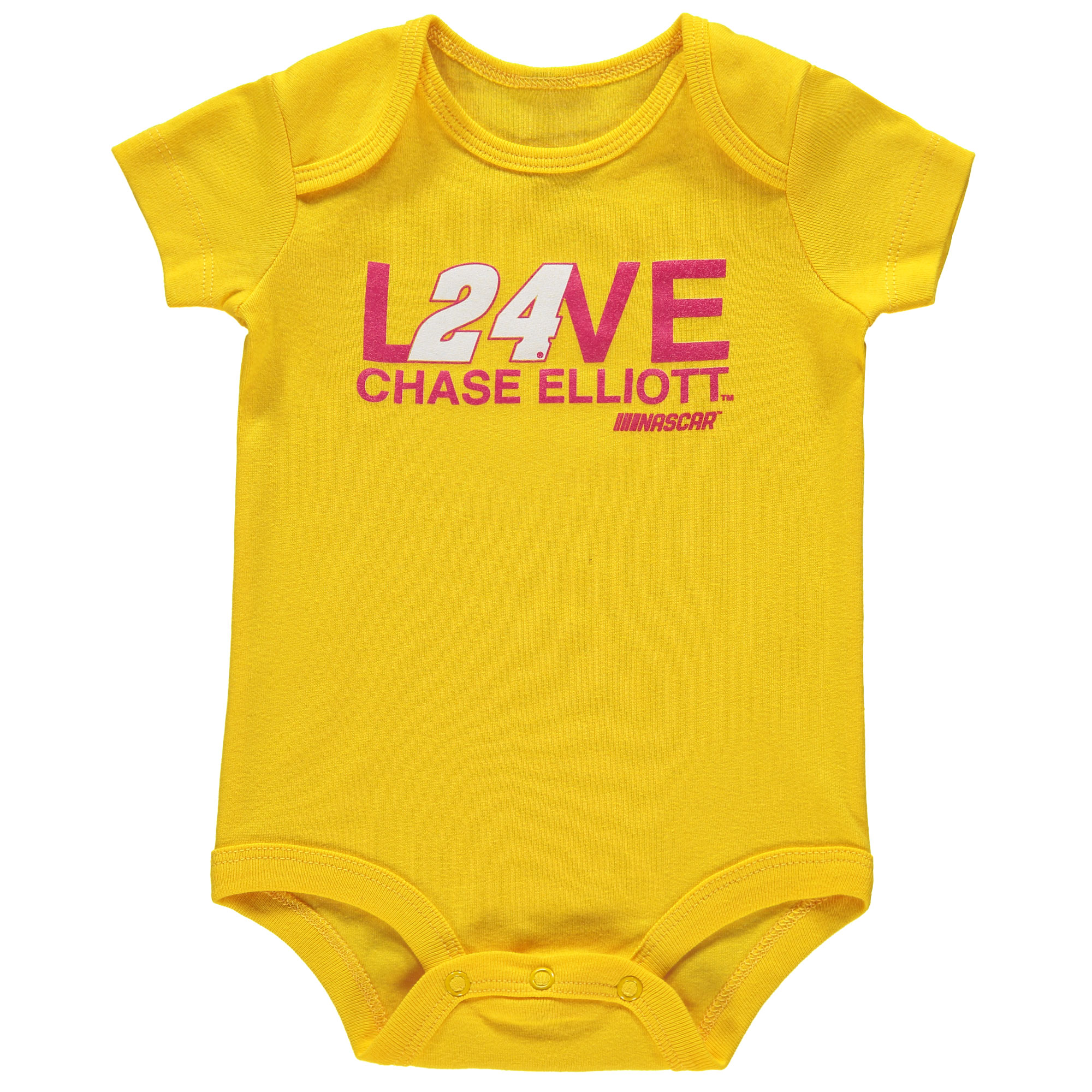 Chase Elliott Hendrick Motorsports Team Collection Girls Newborn & Infant Bodysuit - Yellow