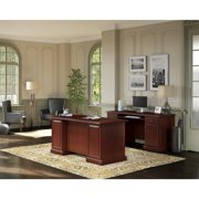 Kathy Ireland Home by Bush Furniture Bennington Desk with Credenza from