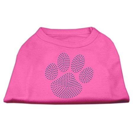 Blue Paw Rhinestud Shirt Bright Pink XL 16