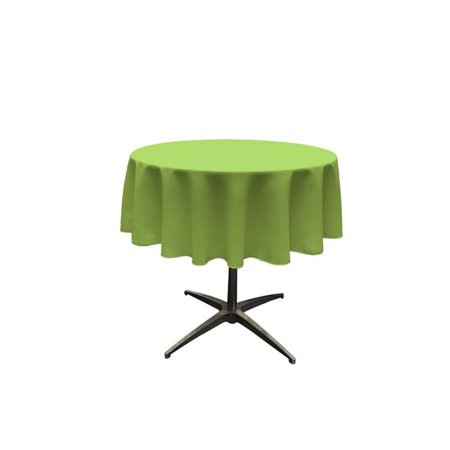 - TCpop51R-LimeP84 Polyester Poplin Tablecloth, Lime - 51 in. Round